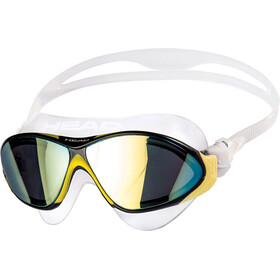 Head Horizon Mirrored Lunettes de natation, clear/yellow/black/smoked